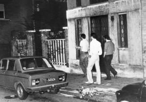 Il luogo dell'omicidio del procuratore capo di Torino Bruno Caccia ARCHIVIO ANSA