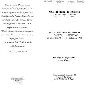 Invito a presenziare Iniziative Settimana della Legalità Giudici Saetta Livatino (3) 2-1