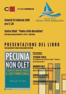 Palermo 15 febbraio Pecunia non olet