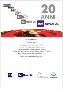 Rainews24 Vent'anni e omaggio a Roberto Morrione