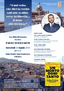 Locandina Incontro con Paolo Borrometi