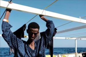 Tesfalidet-Tesfom-al-momento-dello-sbarco