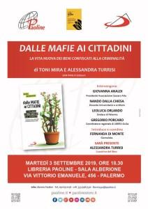 3_09_2019_Palermo_Presentazione libro Dalle mafie ai cittadini_locandina