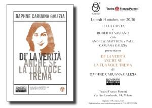 Milano 14 ottobre_Daphne Caruana Galizia