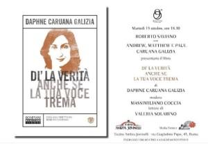 Roma 15 ottobre_Daphne Caruana Galizia