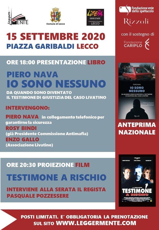 Piero Nava Lecco 15 settembre 2020